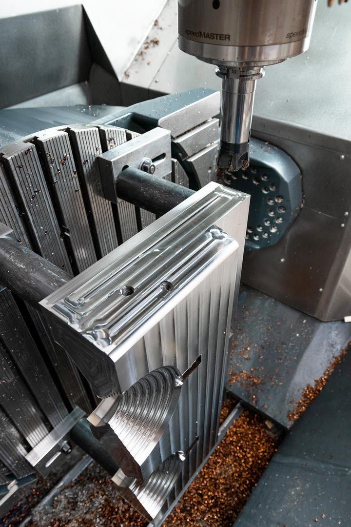 Inside a 5-axis machining centre